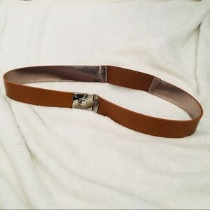 "MICHAEL KORS Genuine Leather Belt 32"" Stretch NWOT"
